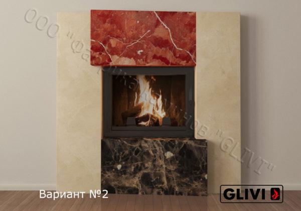 Мраморный каминный портал (облицовка) Порто, каталог (интернет-магазин) каминов из мрамора, изображение, фото 2