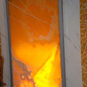 Декоративная подсветка плиты из оникса Процион, изображение, фото 1