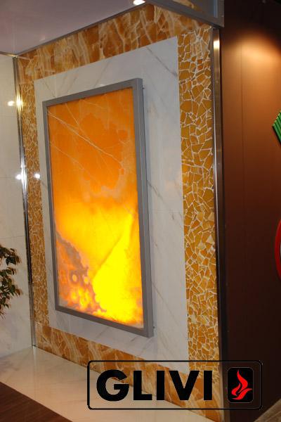 Декоративная подсветка плиты из оникса Процион, изображение, фото 2