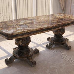 Стол из натурального камня (мрамора) Прометей, интернет-магазин столов, изображение, фото 1