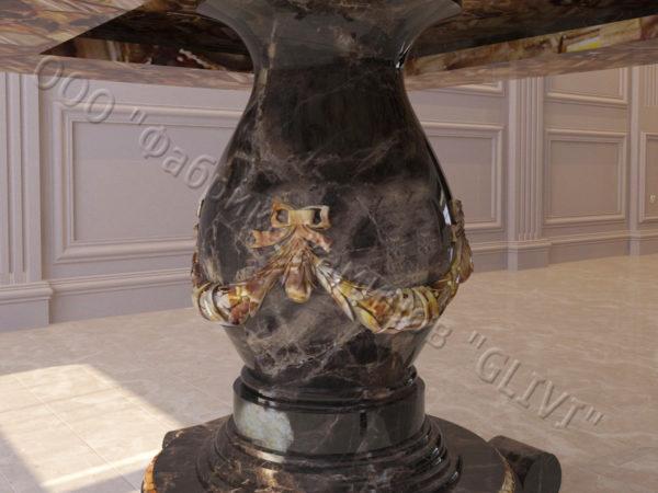 Стол из натурального камня (мрамора) Прометей, интернет-магазин столов, изображение, фото 2