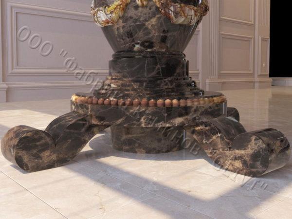 Стол из натурального камня (мрамора) Прометей, интернет-магазин столов, изображение, фото 3