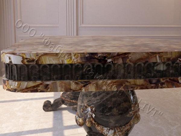 Стол из натурального камня (мрамора) Прометей, интернет-магазин столов, изображение, фото 4