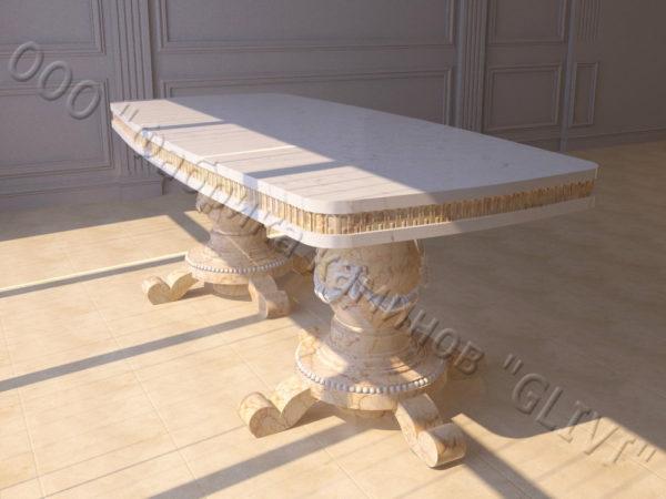 Стол из натурального камня (мрамора) Прометей, интернет-магазин столов, изображение, фото 5