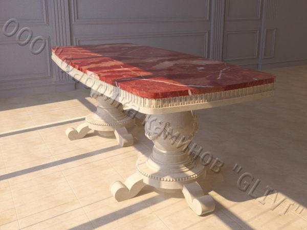 Стол из натурального камня (мрамора) Прометей, интернет-магазин столов, изображение, фото 7