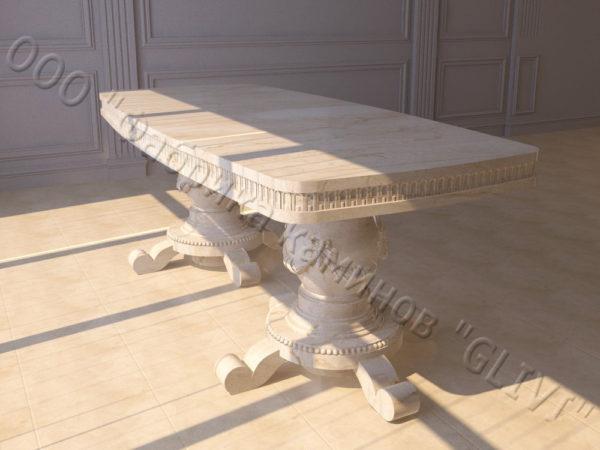 Стол из натурального камня (мрамора) Прометей, интернет-магазин столов, изображение, фото 8
