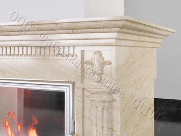 Двухсторонний (туннельный, стеклянный) камин Протея, каталог каминов, изображение, фото 4
