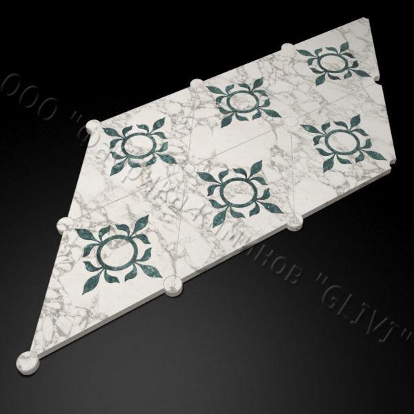Плитка из натурального мрамора Рамб, изображение, фото 1