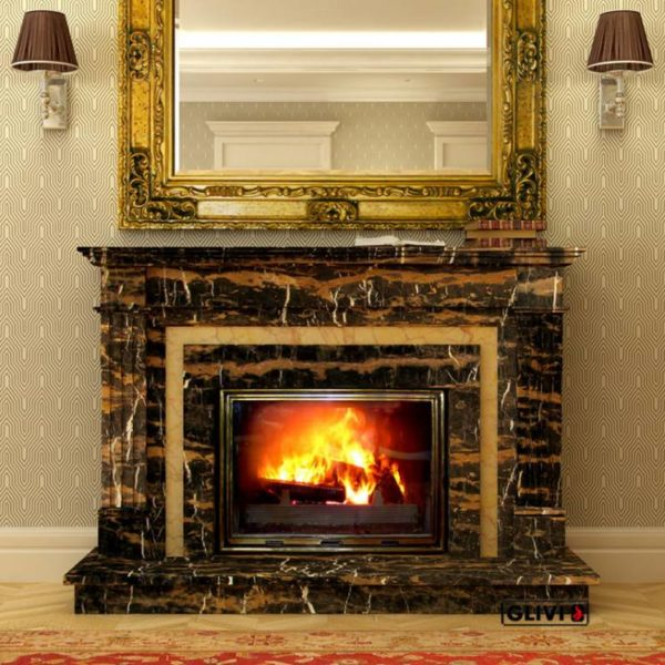 Мраморный каминный портал (облицовка) Регат, каталог (интернет-магазин) каминов из мрамора, изображение, фото 1