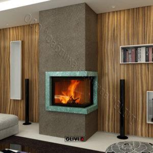 Мраморный каминный портал (облицовка) Резольют, каталог (интернет-магазин) каминов из мрамора, изображение, фото 1