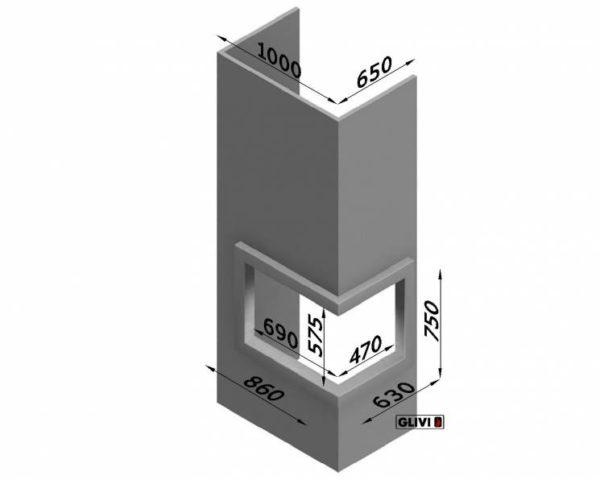 Мраморный каминный портал (облицовка) Резольют, каталог (интернет-магазин) каминов из мрамора, изображение, фото 2