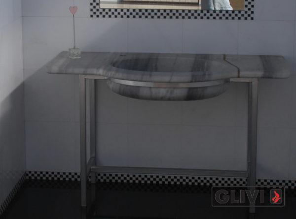 Мраморная раковина (умывальник) Рида, каталог раковин из камня, изображение, фото 1