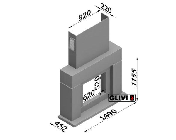 Мраморный каминный портал (облицовка) Родос, каталог (интернет-магазин) каминов из мрамора, изображение, фото 3