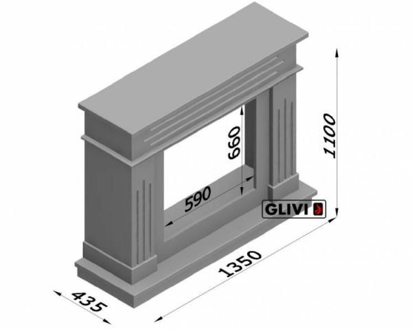 Мраморный каминный портал (облицовка) Рогнеда, каталог (интернет-магазин) каминов из мрамора, изображение, фото 10