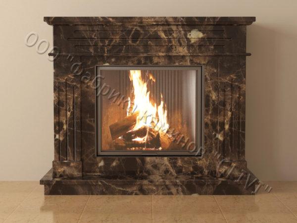 Мраморный каминный портал (облицовка) Рогнеда, каталог (интернет-магазин) каминов из мрамора, изображение, фото 9