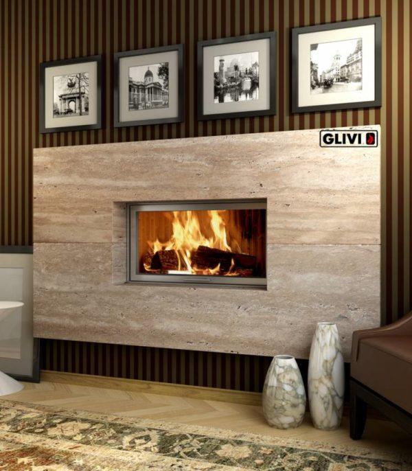Мраморный каминный портал (облицовка) Рудбекия, каталог (интернет-магазин) каминов из мрамора, изображение, фото 1