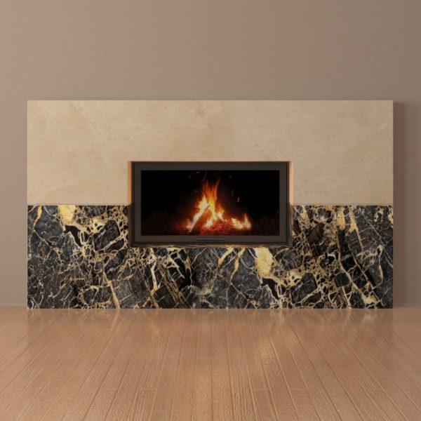 Мраморный каминный портал (облицовка) Рудбекия, каталог (интернет-магазин) каминов из мрамора, изображение, фото 2