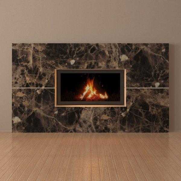 Мраморный каминный портал (облицовка) Рудбекия, каталог (интернет-магазин) каминов из мрамора, изображение, фото 3