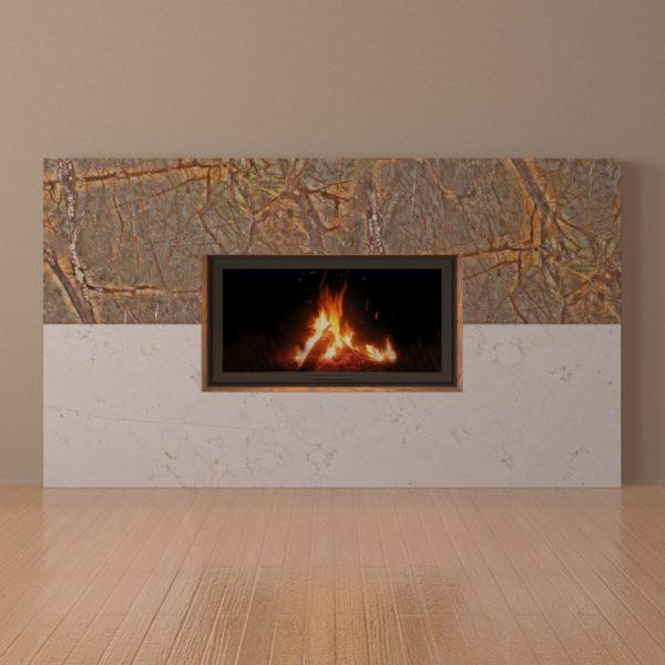 Мраморный каминный портал (облицовка) Рудбекия, каталог (интернет-магазин) каминов из мрамора, изображение, фото 4