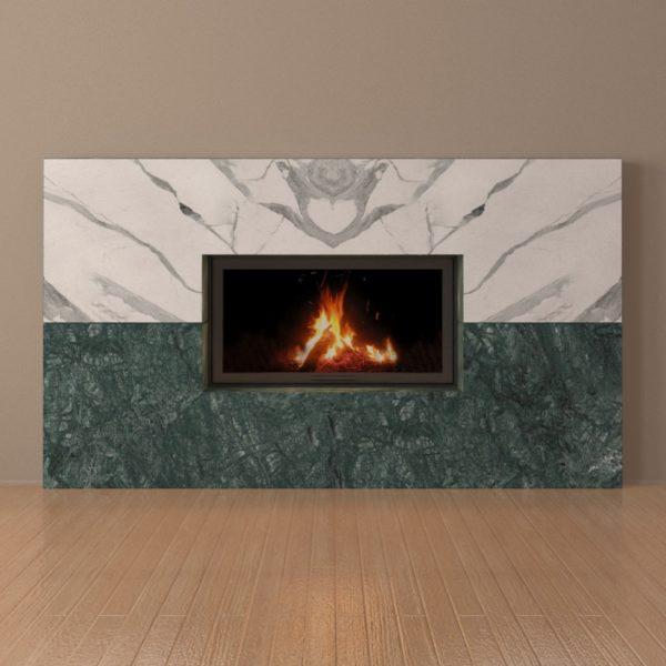 Мраморный каминный портал (облицовка) Рудбекия, каталог (интернет-магазин) каминов из мрамора, изображение, фото 6