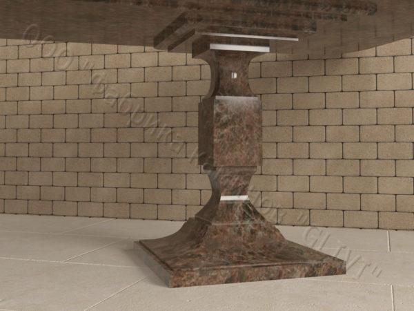 Стол из натурального камня (гранита) Рукс, интернет-магазин столов, изображение, фото 2