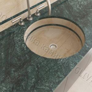 Мраморная мойка Рунди, каталог раковин из камня, изображение, фото 1