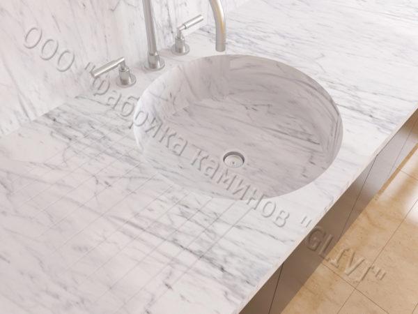 Мраморная мойка Рунди, каталог раковин из камня, изображение, фото 2