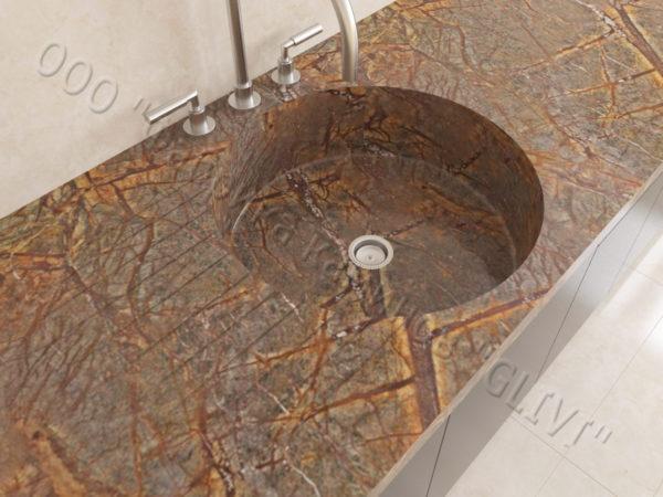 Мраморная мойка Рунди, каталог раковин из камня, изображение, фото 4