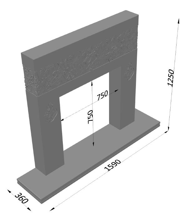 Мраморный каминный портал (облицовка) в восточном (арабском) стиле Саида, каталог (интернет-магазин) каминов из мрамора, изображение, фото 10