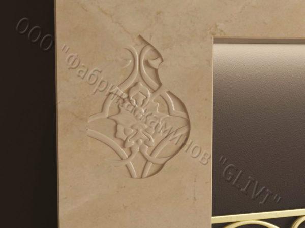 Мраморный каминный портал (облицовка) в восточном (арабском) стиле Саида, каталог (интернет-магазин) каминов из мрамора, изображение, фото 3
