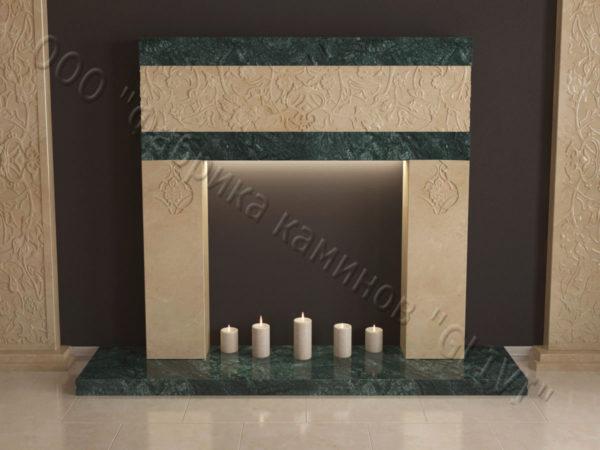 Мраморный каминный портал (облицовка) в восточном (арабском) стиле Саида, каталог (интернет-магазин) каминов из мрамора, изображение, фото 9
