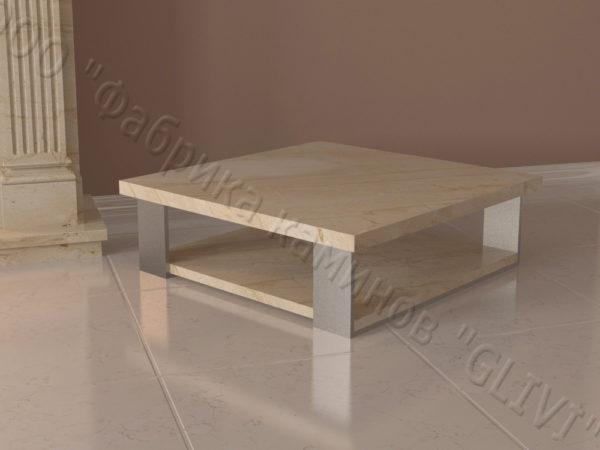 Стол из натурального камня (мрамора) Салли, интернет-магазин столов, изображение, фото 1