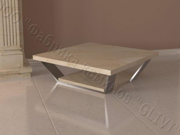 Стол из натурального камня (мрамора) Салли, интернет-магазин столов, изображение, фото 2