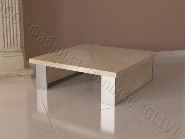 Стол из натурального камня (мрамора) Салли, интернет-магазин столов, изображение, фото 3