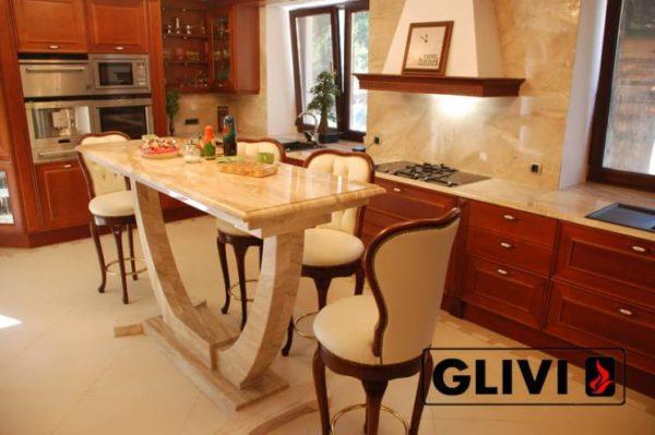 Столешница из натурального камня (мрамора) Сальвадор 2, изготовить на заказ, изображение, фото 2