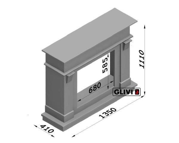 Мраморный каминный портал (облицовка) Санта-Лючия, каталог (интернет-магазин) каминов из мрамора, изображение, фото 2