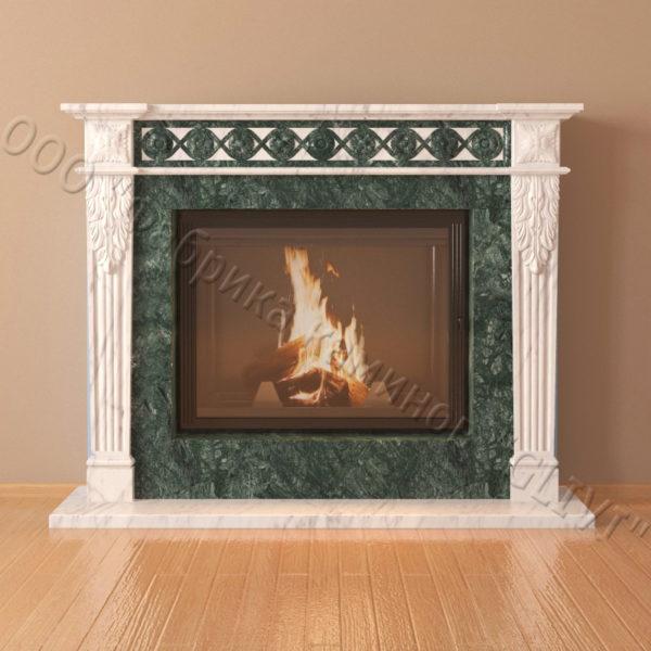 Мраморный каминный портал (облицовка) Санта-Роза, каталог (интернет-магазин) каминов из мрамора, изображение, фото 3