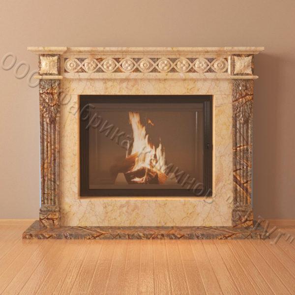 Мраморный каминный портал (облицовка) Санта-Роза, каталог (интернет-магазин) каминов из мрамора, изображение, фото 4
