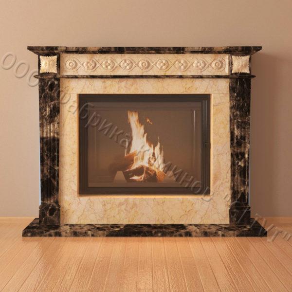 Мраморный каминный портал (облицовка) Санта-Роза, каталог (интернет-магазин) каминов из мрамора, изображение, фото 5