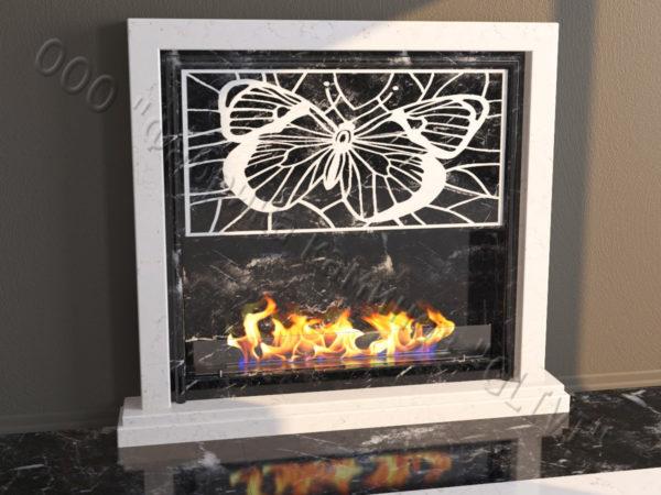 Напольный каминный портал (облицовка) для биокамина Сапфо, каталог (интернет-магазин) каминов, изображение, фото 1