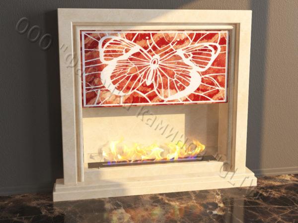 Напольный каминный портал (облицовка) для биокамина Сапфо, каталог (интернет-магазин) каминов, изображение, фото 5