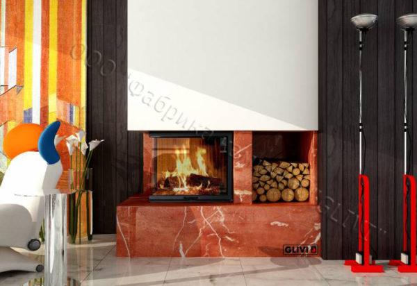 Мраморный каминный портал (облицовка) Сарагоса, каталог (интернет-магазин) каминов из мрамора, изображение, фото 1