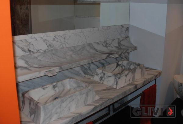 Мраморная раковина (умывальник) Селена, каталог раковин из камня, изображение, фото 1