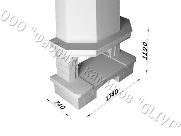 Мраморный каминный портал (облицовка) Сенатор без банкетки, каталог (интернет-магазин) каминов из мрамора, изображение, фото 6