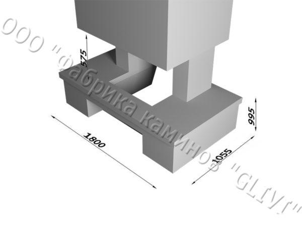 Мраморный каминный портал (облицовка) Сенсэй без банкетки, каталог (интернет-магазин) каминов из мрамора, изображение, фото 6