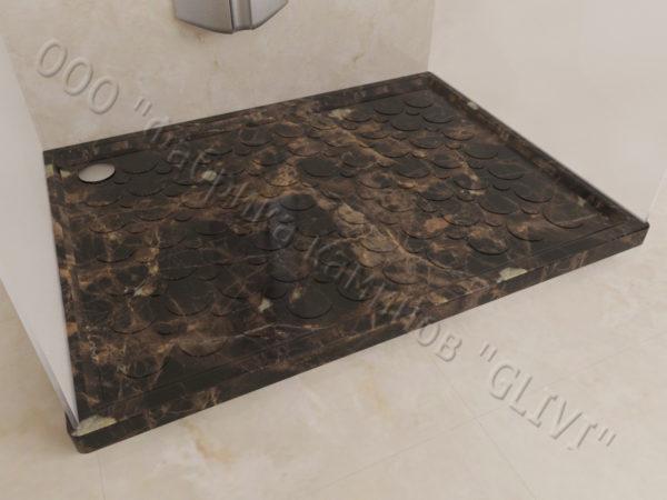 Поддон для душа Сэйма мраморный, каталог душевых поддонов из камня, изображение, фото 2