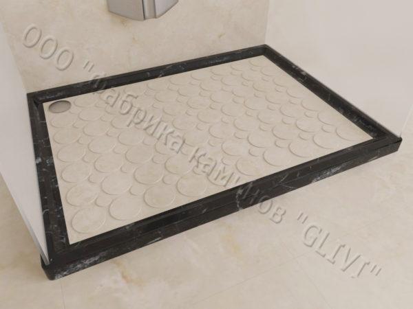Поддон для душа Сэйма мраморный, каталог душевых поддонов из камня, изображение, фото 3
