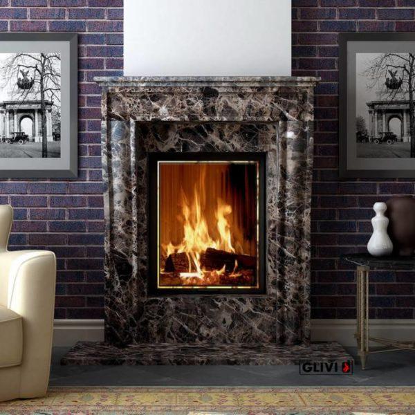 Мраморный каминный портал (облицовка) Шарлеруа, каталог (интернет-магазин) каминов из мрамора, изображение, фото 1