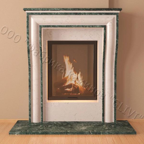 Мраморный каминный портал (облицовка) Шарлеруа, каталог (интернет-магазин) каминов из мрамора, изображение, фото 6
