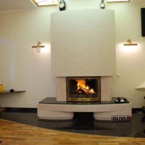 Мраморный каминный портал (облицовка) Сицилия, каталог (интернет-магазин) каминов из мрамора, изображение, фото 1
